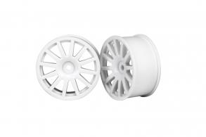 TRAXXAS запчасти Wheels, 12-spoke (white) (2)