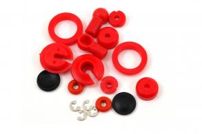 TRAXXAS запчасти Rebuild kit, oil-filled shocks (o-ring, bladder, piston, shaft guide, E-clips, shock cap, shock rod