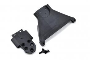 RPM Front Bulkhead for the Slash LCG 4x4 - Black