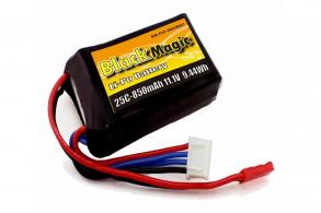 Black Magic LiPo 11,1В(3S) 850mAh 25C Soft Case JST-BEC plug