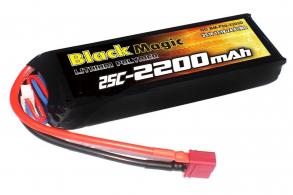 Black Magic LiPo 11,1В(3S) 2200mAh 25C Soft Case Deans plug