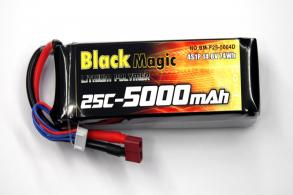 Black Magic LiPo 14,8В(4S) 5000mAh 25C Soft Case Deans plug