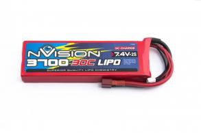 nVision Li-Po 7.4V(2s) 3700mAh 30C Deans plug SoftCase