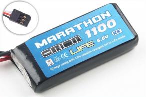 Team Orion Batteries Marathon Standard RX Pack LiFe 6,6В(2s) 1100mAh 30C Futaba
