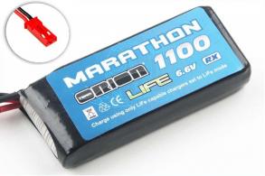 Team Orion Batteries Marathon Life Standard RX Pack Team Orion LiFe 6,6В(2s) 1100mAh 30C Soft Case BEC:JST