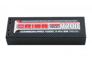 Team Orion Batteries Carbon Pro LiPo 7,4В(2s) 7200mAh 100C Hard Case Tubes