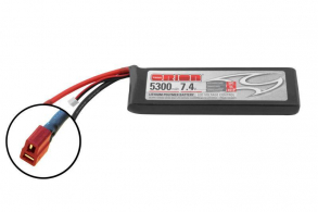 Team Orion Batteries Li-Po 7,4В(2S) 5300mah 50C SoftCase Deans plug with LED charge status