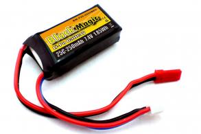 Black Magic LiPo 7.4 В (2S) 250mAh 25C Soft Case JST-BEC plug