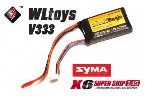 Black Magic LiPo 7,4В(2S) 850mAh 25C Soft Case JST-BEC plug (for WLToys V262, V333, V333C, Syma X6)