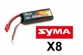 Black Magic LiPo battery  7,4V(2S) 2200mAh 30C Tubes Plug 3.5 mm