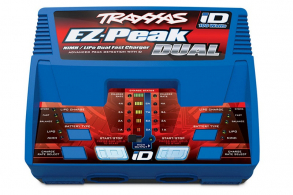 TRAXXAS Charger EZ-Peak Plus 4-amp NiMH:LiPo Fast Charger with iD™ Auto Battery Identification (Dual Output)