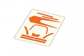 TRAXXAS запчасти Decals, high visibility, orange
