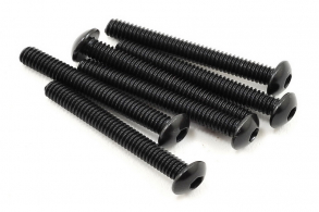 TRAXXAS запчасти Screws, 4x30mm button-head machine (hex drive) (6)