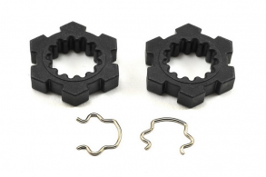 TRAXXAS запчасти Wheel hubs, hex (2): hex clips (2)