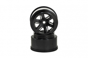 TRAXXAS запчасти Wheels, X-Maxx, black (left & right)