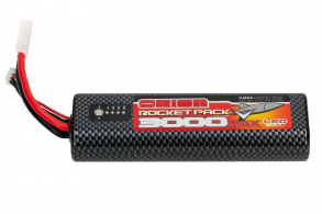 Team Orion Batteries Rocket Pack V-Max LiPo 3000 55C Round (LED, 7.6V, 2S, Tamiya)