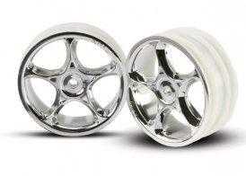 TRAXXAS запчасти Wheels, Tracer 2.2' (chrome) (2) (Bandit front)