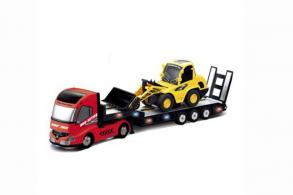 RUI CHUANG Радиоуправляемый грузовик (красный) и экскаватор (жёлтый)