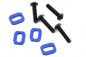 TRAXXAS запчасти X-Maxx Motor Mount Washer (Blue) (4)