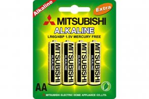 Mitsubishi Батарейка AA LR6G Alkaline (4шт.)