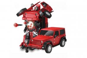 MZ Трансформер Jeep Rubicon Red 1:14 (стреляет присосками)