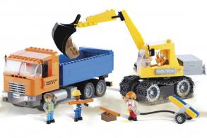 COBI Dump Truck and Excavator
