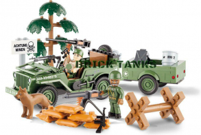 COBI Jeep Willys MB with 1:4 Ton Cargo Trailer