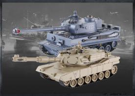 Zegan Танковый бой TIGER + Abrams 1:28