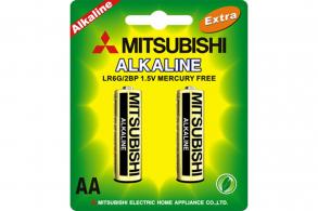 Mitsubishi Батарейка AA LR6G Alkaline (2шт.)