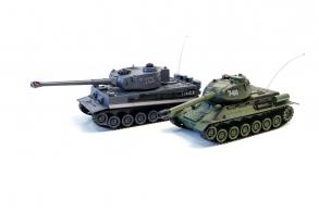 Zegan Танковый бой TIGER I + T-34 1:28
