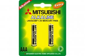 Mitsubishi Батарейка AАA LR03G Alkaline (2шт.)