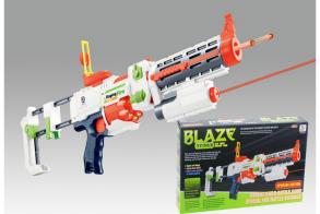 HC-Toys Автомат с мягкими пулями на батарейках BlazeStorm с лазерным прицелом