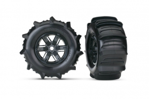 TRAXXAS запчасти Tires & wheels, assembled, glued (X-Maxx) left & right