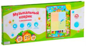 Zhorya Обучающая игрушка Музыкальный коврик Ферма с животными