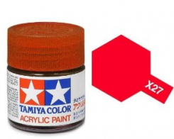 Tamiya Лак акриловый Clear Red X-27 (10мл.)