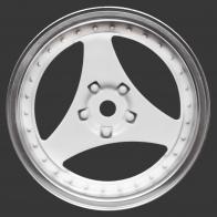 Speedway Slide Комплект дисков (4шт.), 3 спиц, белые с хромом