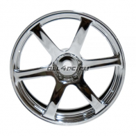 Speedway Slide Комплект дисков (4шт.), YOKOHAMA AVS MODEL T6, 6 спиц, вылет 6мм, хром