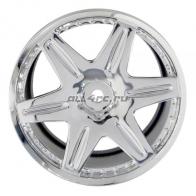 Speedway Slide Комплект дисков (4шт.), WORK LS406 6 спиц, вылет 6мм, хром