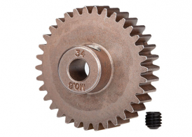 TRAXXAS запчасти Gear, 34-T pinion (0.8 metric pitch, compatible with 32-pitch) (fits 5mm shaft): set screw