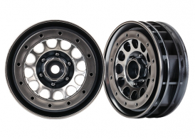 "TRAXXAS запчасти Wheels, Method 105 1.9"" (black chrome, beadlock) (beadlock rings sold separately)"