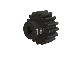 TRAXXAS запчасти Gear, 16-T pinion (32-p), heavy duty (machined, hardened steel): set screw