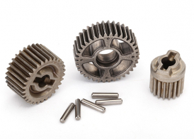TRAXXAS запчасти Gear set, transmission, metal (includes 18T, 30T input gears, 36T output gear, 2x10.3 pins (5))
