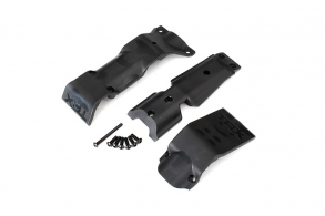 TRAXXAS запчасти Skid plate set, front: skid plate, rear