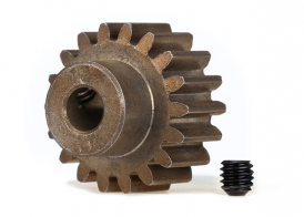 TRAXXAS запчасти Gear, 18-T pinion (1.0 metric pitch) (fits 5mm shaft): set screw (compatible with steel spur gears)
