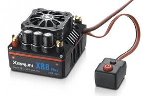 Hobbywing Бесколлекторный сенсорный регулятор XERUN XR8 Plus для автомоделей масштаба 1:8