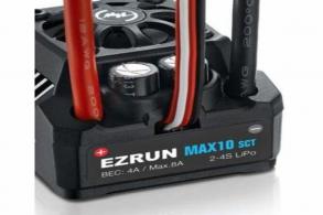 Hobbywing Бесколлекторный влагозащищённый регулятор EzRun MAX10 SCT для масштаба 1:10
