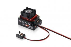 Hobbywing Бесколлекторный сенсорный регулятор QuicRun-10BL120 для автомоделей масштаба 1:10 красный