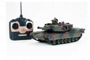 HC-Toys Радиоуправляемый танк Abrams 1:24, камуфляж NATO, пневмо пушка