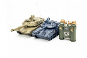 HC-Toys Радиоуправляемый танковый бой 1:24 T90 vs M1A2