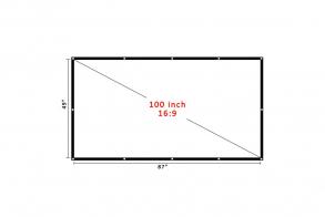 CAIWEI Экран для проектора H100B 16:9 (полиэфир : полиуретан полотно)